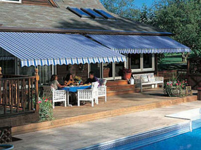 retractable poolside awnings