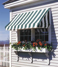 Window Awning with flower box